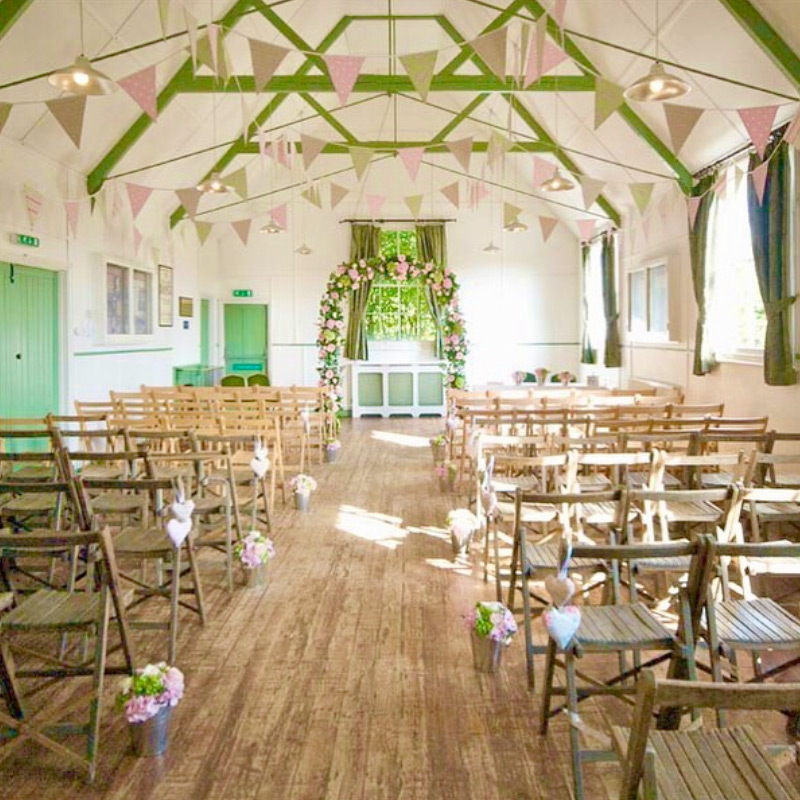 Bunting at a village hall event - image