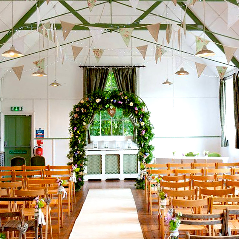 Blue Sky Bunting Carpet Runner in a village hall - image