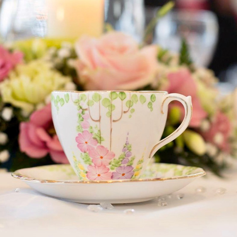 Vintage teacup and saucer image